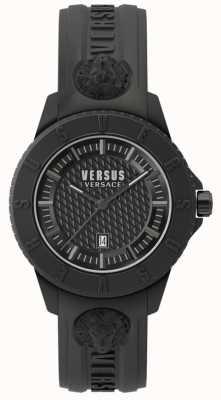 Versus Versace Tokyo r blackdial czarny silikonowy pasek SPOY230018
