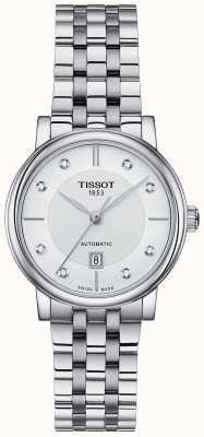 Tissot Damski automatyczny zestaw kryształów ze stali nierdzewnej Carson T1222071103600