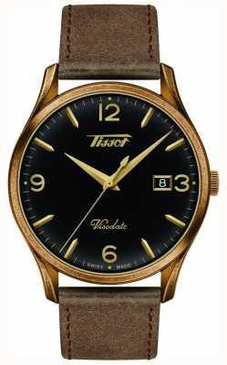 Tissot Męskie visodate dziedzictwo kwarcowy czarny / złoty tarcza brown skóra T1184103605700