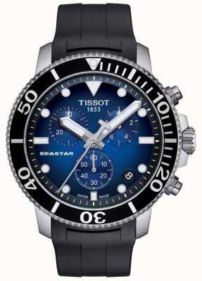 Tissot Mens seastar 1000 chronograf ze stali kwarcowy T1204171704100