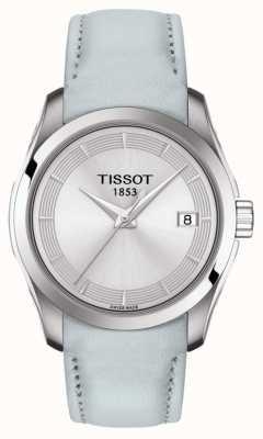Tissot Damski korkociąg w kolorze jasnoniebieskim z srebrną tarczą T0352101603102