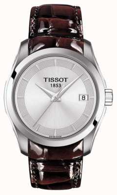 Tissot Damski, brązowy, skórzany pasek ze srebrną tarczą T0352101603103