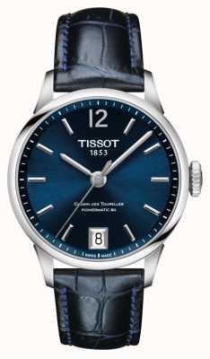 Tissot Chemin des tourelles niebieski skórzany pasek z niebieską tarczą T0992071604700