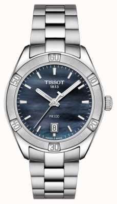 Tissot Damska pr 100 sport chic 36mm stal nierdzewna niebieska T1019101112100