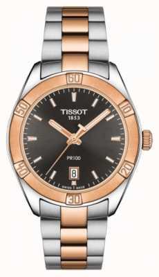 Tissot Damska pr 100 sport chic 36mm dwukolorowa czarna tarcza T1019102206100
