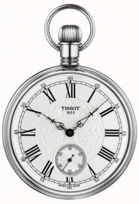 Tissot Mechaniczny zegarek kieszonkowy Lepine ze stali nierdzewnej T8614059903300