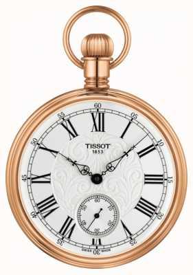 Tissot Mechaniczny zegarek kieszonkowy Lepine, różowo-złoty, ze stali nierdzewnej T8614059903301