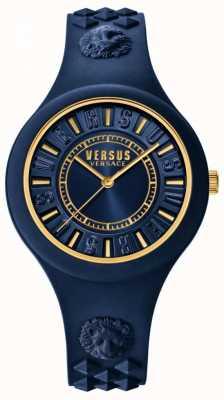 Versus Versace Niebieska tarcza z niebieskiej tarczy w kolorze niebieskim SOQ090016