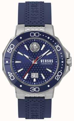 Versus Versace Mens kalk bay bransoleta ze stali nierdzewnej niebieska tarcza VSP05020018