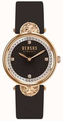Versus Versace Damski pasek skórzany Victoria Port Burgundowy SP33150018