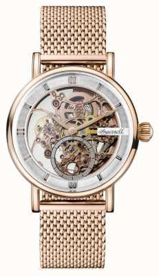 Ingersoll Mens zwiastun automatyczna bransoleta z różowego złota, platerowana siatką pvd I00406