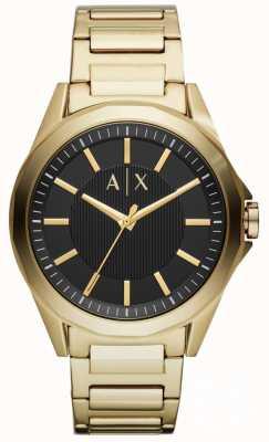 Armani Exchange Zegarek męski zegarek platerowany złotym pvd AX2619