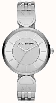 Armani Exchange Damska sukienka zegarka ze stali nierdzewnej AX5327