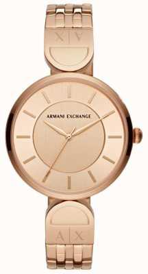 Armani Exchange Zegarek damski różowego złota AX5328