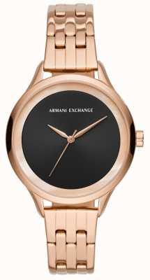 Armani Exchange Zegarek damski różowego złota AX5606