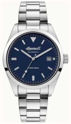 Ingersoll Mens zależność bransoleta ze stali nierdzewnej niebieska tarcza I05502