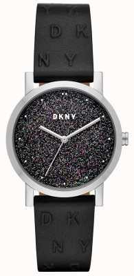 DKNY Damski zegarek Dkny z czarnego skórzanego paska NY2775