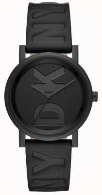 DKNY Zegarek Ladies Soho z czarnym skórzanym paskiem NY2783