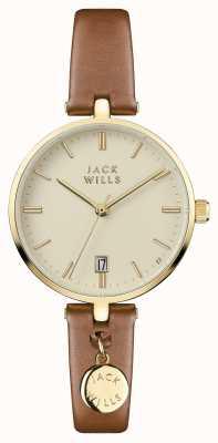 Jack Wills Damski krem bennett wybierany na brązowy skórzany pasek JW005CMGD