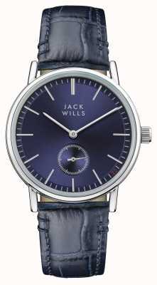 Jack Wills Kobiet buckley niebieski niebieski skórzany pasek wybierania JW007BLSS