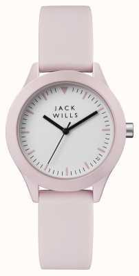 Jack Wills Damska bluzka biała tarcza różowa, silikonowa JW008PKPK