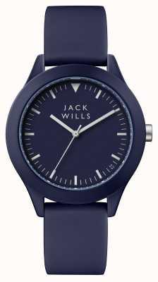 Jack Wills Męska niebieska tarcza niebieska, silikonowa JW009BLBL