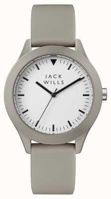 Jack Wills Męskie białe szare silikonowe paski JW009WHGY
