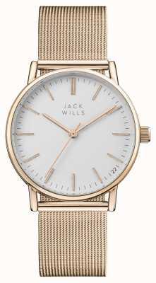 Jack Wills Damska biała bransoletka z tarczą z żółtego złota JW013RSRS