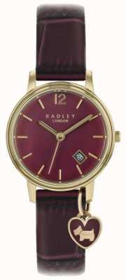Radley Zegarek damski, różowo złoty, fioletowy pasek RY2718
