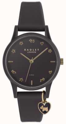 Radley Damski, fioletowy, silikonowy zegarek z jasnozłotymi znacznikami RY2696
