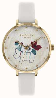 Radley Zegarek damski z paskiem na kredę w kwiaty i na psie RY2684