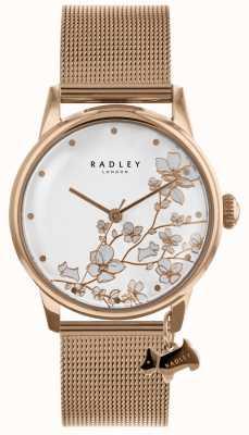Radley Damski zegarek ze stali siatkowanej z różowego złota RY4348