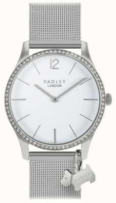 Radley Damskie kryształy swarovskiego z białego tarczy ze stali nierdzewnej RY4353