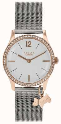 Radley Damskie kryształy swarovskiego srebrne białe tarcze RY4351