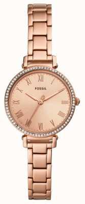 Fossil | kobiety | kinsey | zestaw kryształów | zegarek w kolorze różowego złota | ES4447