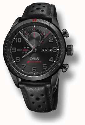 Oris Audi sport limitowana edycja ii automatyczny czarny skórzany pasek 01 778 7661 7784-SET LS