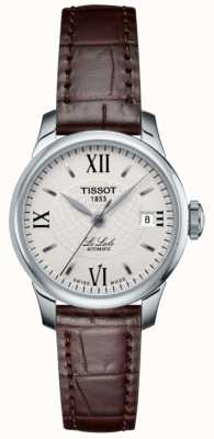 Tissot Damski smukły automatyczny skórzany zegarek Le Locle T41111377