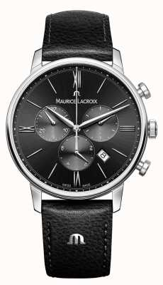 Maurice Lacroix Chronograf męski Eliros czarna tarcza EL1098-SS001-310-1