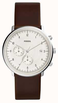 Fossil | zegarek męski brązowy skórzany | FS5488