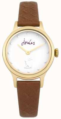 Joules Damski pasek ze skóry w stylu jackie tan biały JSL007TG