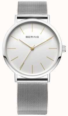 Bering Klasyczny zegarek kolekcji z opaską siatkową i odpornym na zarysowania materiałem 13436-001