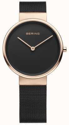 Bering Damski analogowy zegarek kwarcowy z paskiem ze stali nierdzewnej 14531-166