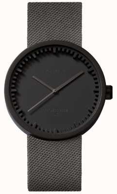 Leff Amsterdam Zegarek na rurę d38 | cordura matowy czarny | szary pasek LT71015
