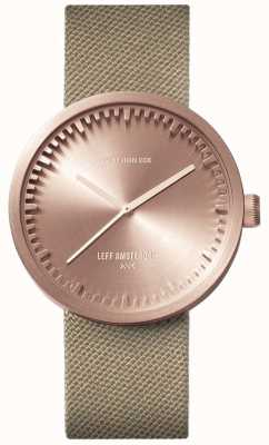Leff Amsterdam Zegarek na rurę d38 | cordura różowe złoto | pasek piasku LT71033