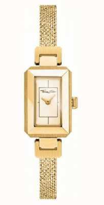 Thomas Sabo Żółta / złota bransoleta ze stali nierdzewnej, złota tarcza WA0331-246-207-23