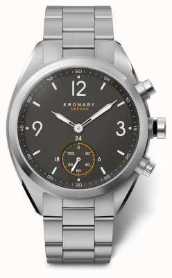 Kronaby Mężczyzna 41 apex bluetooth ze stali nierdzewnej czarny czarny zegarek A1000-3113