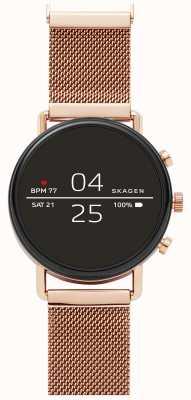 Skagen Elegancki siatkowy zegarek Falster 2 gen 4 z różowego złota SKT5103