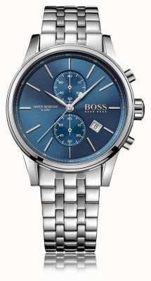 Hugo Boss Mens jet chrono bransoleta ze stali nierdzewnej niebieska tarcza 1513384