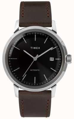 Timex Marlin automatyczny | brązowy skórzany pasek | TW2T230007U