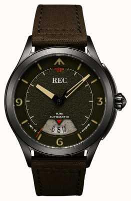 REC | pt879 mk ix spitfire | pasek z płótna | zegarek automatyczny | RJM-03